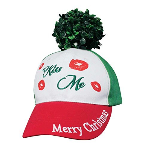 (Holidays Xmas Mistletoe Kisses Kiss Me Funny Hat)