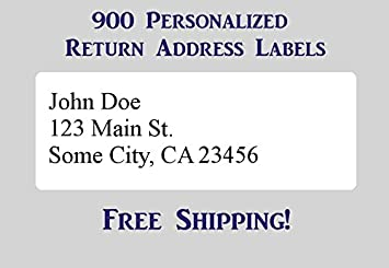 """Printed Personalized Return Mailing Address Labels Stickers 1//2/"""" x 1 3//4/"""""""