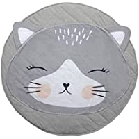 GABWE Round Kids Cat Rug Carpet Cotton for Childen Floor Play Mats Kids Room Decoration 35.4 inches