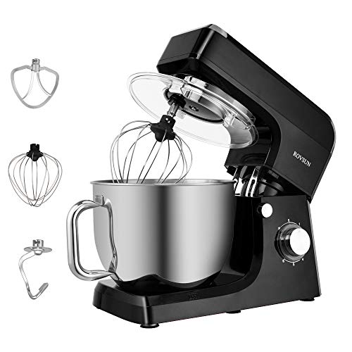 ROVSUN 7.5 Quart Stand Mixer, 660W 6-Speed Electric Tilt-Head Kitchen Food Mixer with Stainless Steel Bowl, Dough Hook…