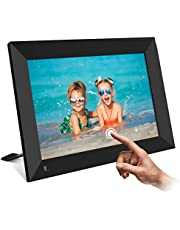 YueME Digital Photo Frame -8 inch WiFi Digital Photo Frame with HD IPS Touch Screen Display, Smart Cloud Photo Frame with 16GB Storage, Auto-Rotate, Instant Share Photos & Videos via Free App