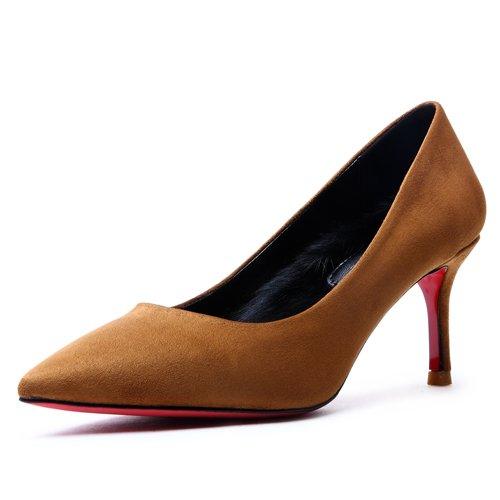Diario Zapatos De GAOLIM Zapatos Solo De Amarillo El Home Zapatos De Los Tacón Tacones Alto F7RFanq