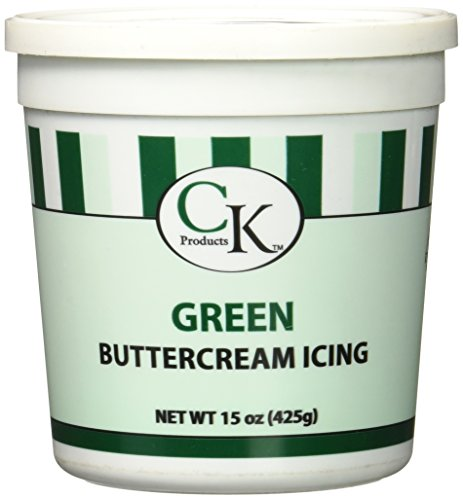 CK Products 77-66031 Buttercream Icing Cake Topper, 15 oz, Green (Tub Green Tube)