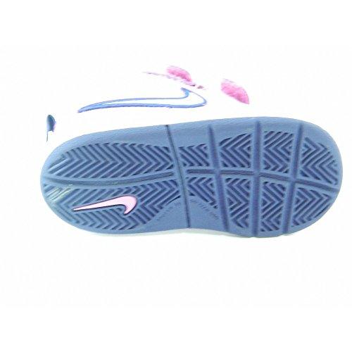 NIKE - Scarpe da ginnastica bimba NIKE in pelle bianca e richiami viola 454477 - 454477 - 32, Viola