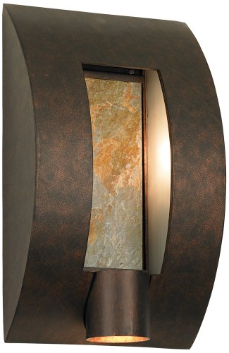 Bronze Framed Slate Outdoor Wall Light