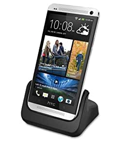 Bundle: 2 Items - Dock Charger for HTC One M7, Clear Case for HTC One M7