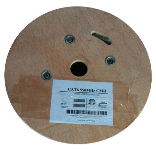 AVB RG-59 2-18 (Siamese) CCA CMP Plenum White 1000 Feet Reel (Siamese Plenum)