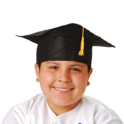Kids Graduation Hat (Child Size Graduation Caps - Black Felt, 12-Pack)
