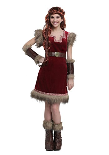 Barbarian Viking Womens Costume Medium Red ()