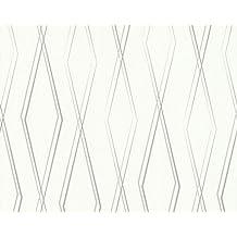 JETTE2 - Grass Textured Embossed Bamboo Natural Light Grey Wallpaper Sample