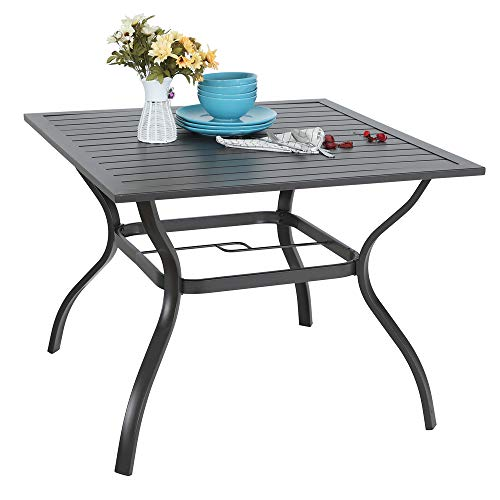 Black Patio Table - PHI VILLA 37