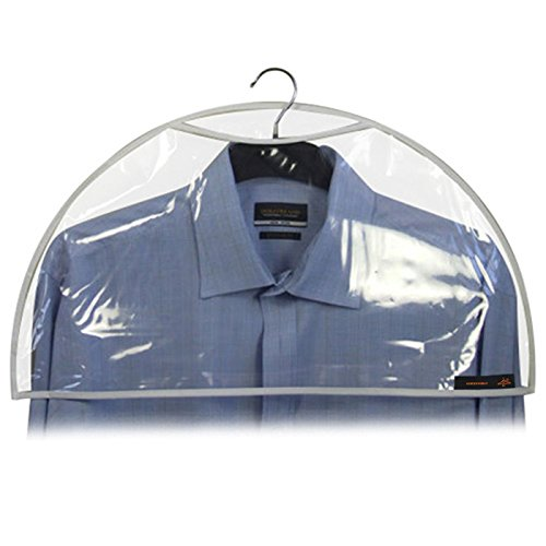 Hangerworld Pack of 20 Clear Shoulder Covers - Protect Clothes from Dust, Dirt & Marking