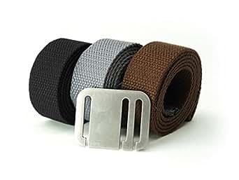 Booyah Belt Men's Medio 3 Belt Combo X-Large Black-Steel-Brown