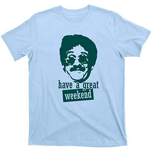 Weekend at Bernie's II 2 Do The Bernie Lomax Party 80s Tee T Shirt (Bernie Light Blue, Large)