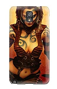 Protective Tpu Case With Fashion Design For Galaxy Note 3 ( Age Of Conan Hyborian Adventures )