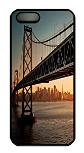 Downtown Bay Bridge Sa Polycarbonate Hard Case Cover for iPhone 5/5S Black