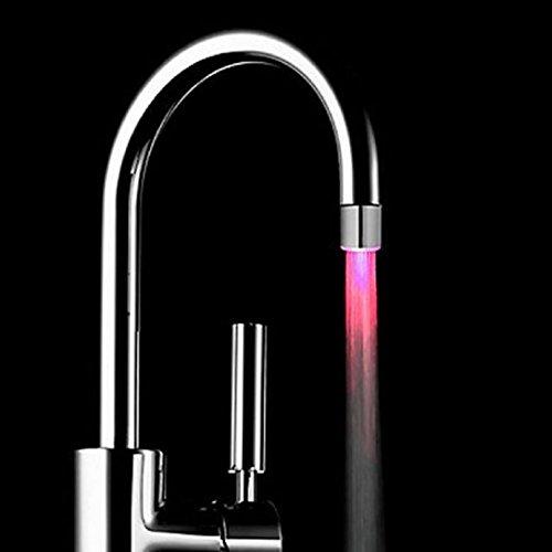 7 Color Alternation Light,Highpot Romantic LED Light Shower Head Water Bathroom Kitchen Night Light