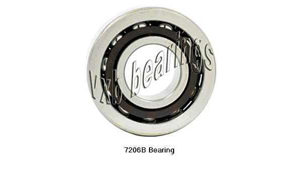 7206 Nachi Angular Contact 30x62x16 C3 30mm//62mm//16mm Steel Japan Ball Bearings