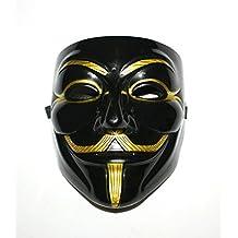 OM(TM) PVC Black V for Vendetta Cosplay Mask
