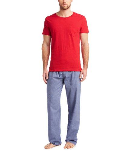 ESPRIT Bodywear Herren Schlafshirt 014EF2Y009/M&M SHIRTS, Gr. 48 (S), Rot (608)