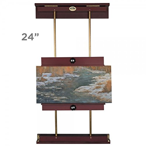Rue Wall Display & Painting Easel Small- 24in Wide-Canvases up to 34in High - Mahogany ()