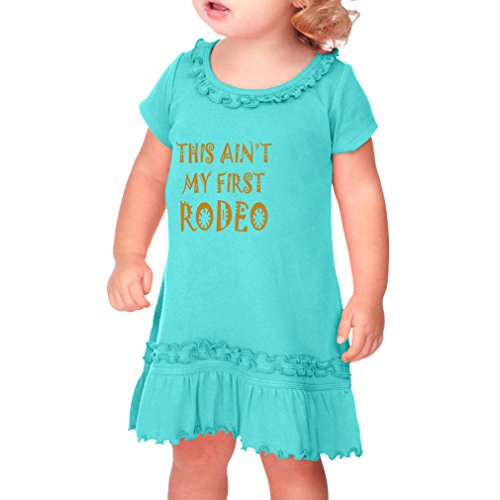 Cute Rascals This Ain't My First Rodeo Sport Cotton Short Sleeve Ruffle...