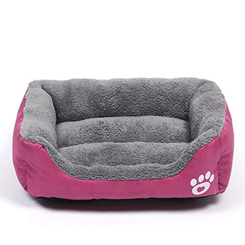colorful-space Pet Dog Bed Warming Dog House Soft Candy Colors Nest Puppy Baskets Autumn Winter Warm Kennel for Small Cats Dogs, Rose,80x65cm