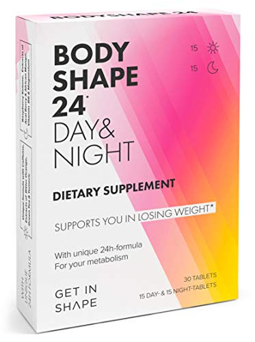 BODYSHAPE 24 Day & Night - 24H Weight Loss Pills - Vegan Metabolism Booster for Fast Weight Loss and Fat Loss - Weight Loss for Women by GET IN SHAPE