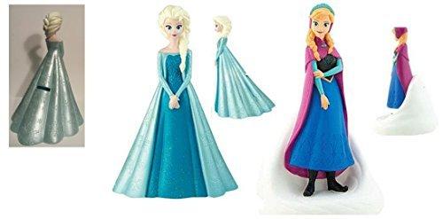 Disney Frozen Molded Figure Coin Bank x 2 / 1- Elsa and 1 - Anna