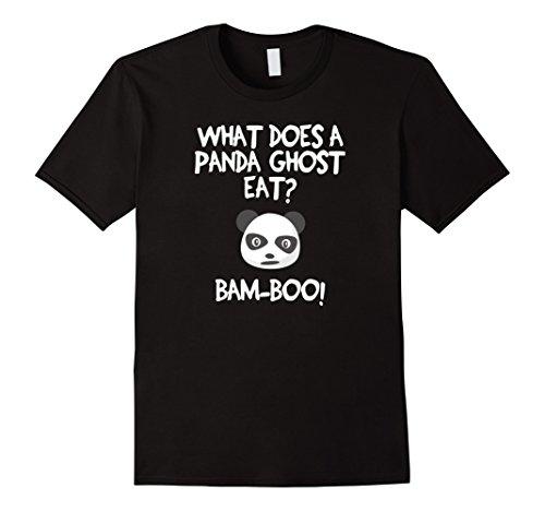 [Mens Funny Halloween Joke T-shirt - Panda Bam-boo Small Black] (Jokers Girlfriend Costume)
