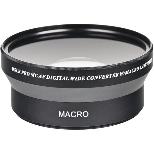 0.45x 72mm Professional High Speed Auto Focus Deluxe Wide Angle Converter Lens by Bower