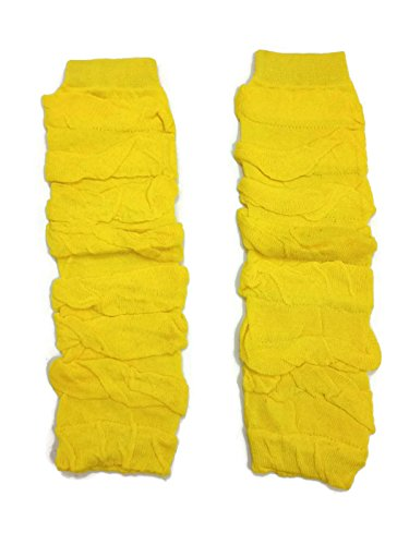 KWC - Ruched Ruffles Solid Baby Leg Warmer/ Leggings (One Size, Yellow)