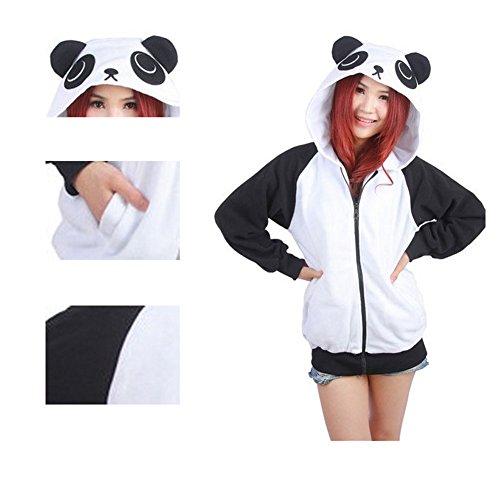 Animale Maglione Cartone con Felpa Panda Animato cappuccio Outwear Unisex Tracksuit Casuale CuteOn Felpe con cappuccio Giacca Pullover pwqSc