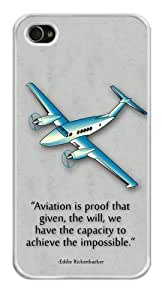 Airplane Aviation Pattern Snap-On Hard Cover Carrying Case for iPhone 6 4.7 (White)