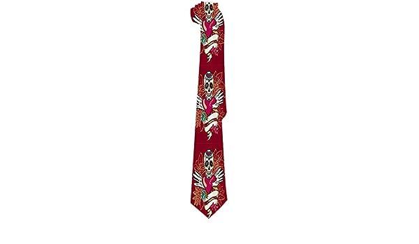 Corbata para hombre Vintage Calaveras de azúcar mexicanas Corazón ...