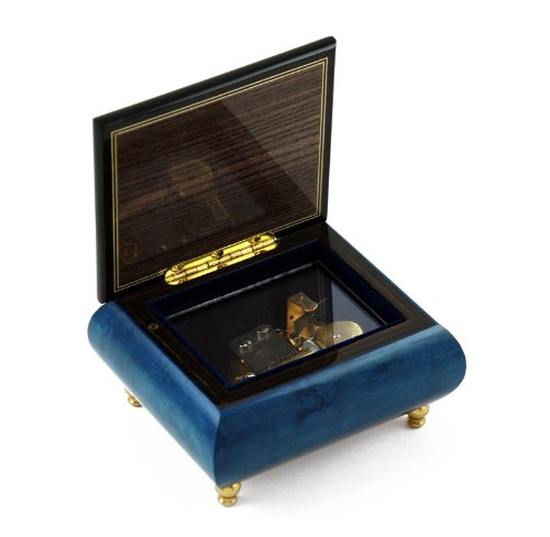 Handcrafted Birds theme Italian Music Box with Ducks and pond - It's Impossible - SWISS