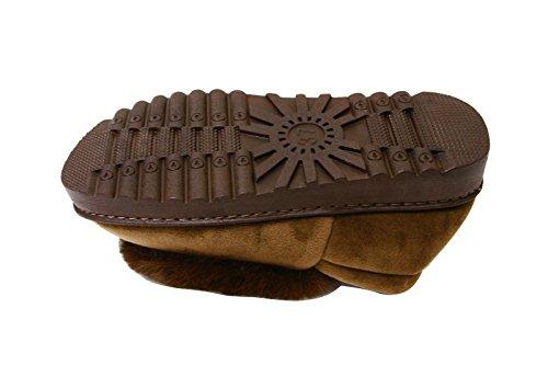 Pantoufles Taureau Heureux Pour Les Femmes Mocassin Glisser Sur Les Chaussures Dintérieur Fausse Fourrure Bottine (susy) Brun