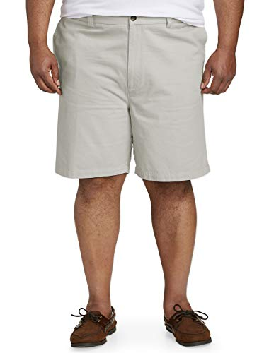 Amazon Essentials Men's Big & Tall Flat-Front Short, Silver, 42
