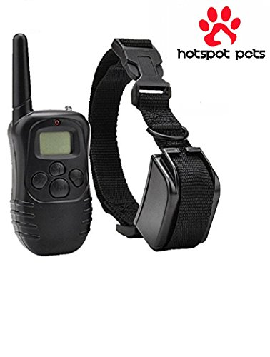 Hot Spot Waterproof Rechargeable LCD Shock Control Pet Dog Training Collar with 100 Level of Vibration + 100 Level of Static Shock