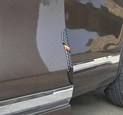 Xotic Tech 4 x Germany Flag M-color Carbon Fiber Side Door Edge Guard Strips Protector Stickers Xotic Tech Direct