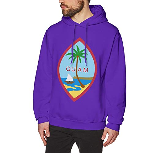 Men's Coat of Arms of Kiribati National Emblem Hoodies Sweatshirt Pullover Sweater, Super Soft Hooded Jumper Blouse - Kiribati Mens Hoodie