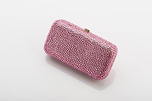 PINK PURSE - Women Ladies Girls Bag Handbag Fashion Crystals Rhinostones Shoulder Evening