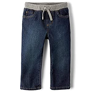 The Children's Place Boys' Baby and Toddler Pull on Straight Jeans