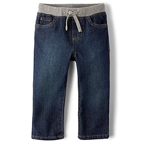 The Children's Place Little Boys and Toddler Pull-On Jean, Liberty Blue, -