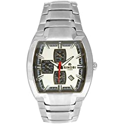Sinobi By Lavaro Men's Quartz Wrist Watch SS1003G-1 with Metal Strap