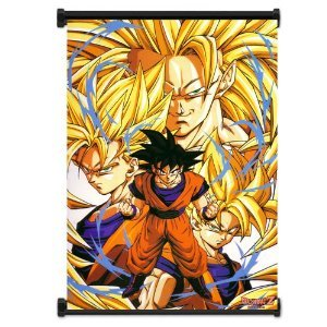 Dragon Ball Z Anime Super Saiyan Goku Fabric Wall Scroll Poster