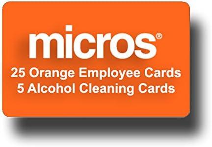 Pack of 5 Genuine Micros Magnetic Stripe Employee ID Swipe Cards NEW