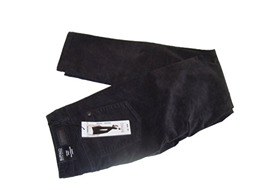 Womens Mid Rise Skinny Stretch Corduroy Pants(2, Charcoal) ()