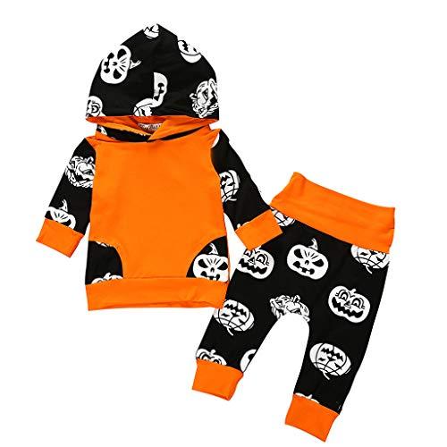 Baby Boy Hoodie Clothes Long Sleeve Ghost Hoodie Tops + Stripe Pants Outfits Set, Newborn Baby Boy Girl Cute Dinosaur Hooded Romper Jumpsuit Clothes
