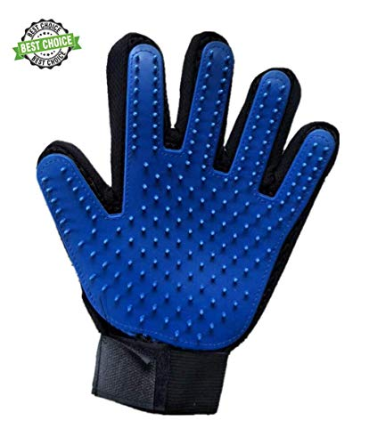 Pet Grooming Glove Pet Hair Removal Gloves-Rubber Material-Enhanced Five-Finger Design Suitable for Dog and cat Long…